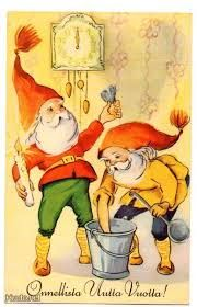Gnomes by irma salmi Elves, Christmas Cards, Illustration, Fictional Characters, Christmas Greetings Cards, Xmas Cards, Illustrations, Fantasy Characters, Faeries