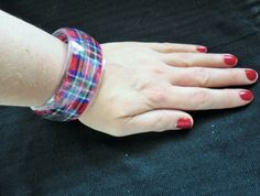 Tartan and Resin Bangle
