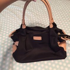 Kate Spade Black Nylon Stevie Bag Gently used, light wear on the bottom. Great, durable nylon purse. kate spade Bags Totes