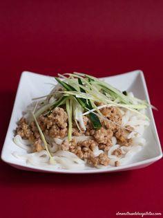 Udon con carne al miso