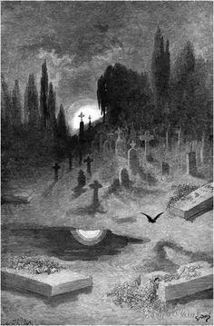 Wandering from the nightly shore... Gustave Doré: The Raven Illustrations