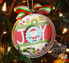 Canning Jar Band Christmas Ornament by Roree Rumph - Stamp & Scrapbook EXPO