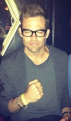 Chris Pine - I love it when he is nerdy