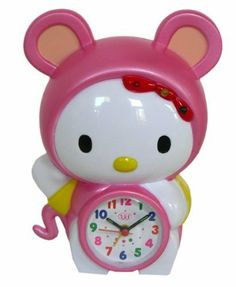 Pink Hello Kitty in Bear Costume Alarm Clock - Hello Kitty Alarm Clock [Toy] by Cartoonfansclub, HELLO KITTY to buy just click on amazon here                    http://www.amazon.ca/dp/B00ANU55XY/ref=cm_sw_r_pi_dp_h-Jusb0E74Z0W