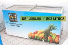 Freezer Horizontal 503 Litros Porta de vidro