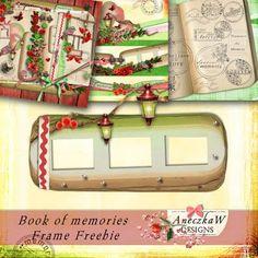 Book of Memories Frame cluster freebie