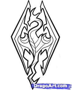 how to draw a skyrim sword