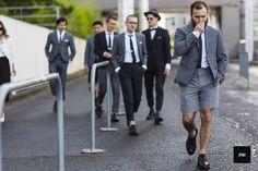 Street style - By jaiperdumaveste - JPMV - Nabile Quenum. // Unknown men wearing Thom Browne during Paris fashion week Spring Summer 2015.
