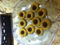 Peanut-butter cookies with Hershey kiss!!