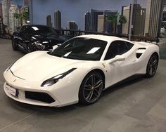The new 488 GTB in white