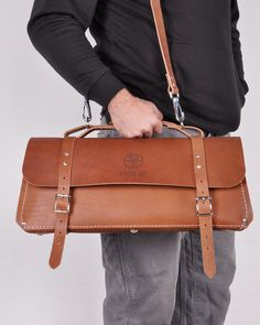 Klein's beautiful leather tool bags are full of practical touches and built to last a lifetime.