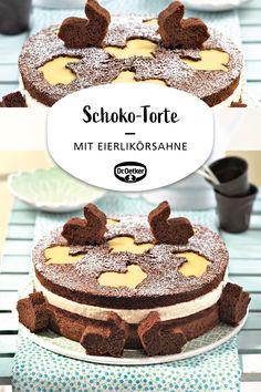 Chocolate cake with eggnog cream - Cake Recipes Quick Dessert Recipes, Easy Cookie Recipes, Easy Desserts, Baking Recipes, Cake Recipes, Dinner Recipes, Dessert Simple, Breakfast Desayunos, Number Cakes