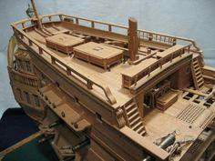 Castillo de popa Model Sailing Ships, Model Ships, Sea Pirates, Wooden Model Boats, Model Ship Building, Model Hobbies, Concept Ships, Wooden Ship, Medieval Art