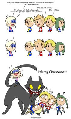 Christmas Kitten - Scandinavia and the World Yule Cat, Funny Cute, Hilarious, Funny Happy, Satw Comic, Christmas Kitten, Short Comics, Funny Memes, Jokes