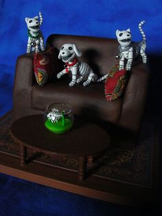 Day of the Dead Animals by claylindo