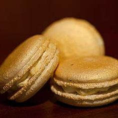 Try this Gold and Champagne Macarons recipe.