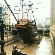 """See 283 photos and 22 tips from 2281 visitors to The Golden Hinde. """"Ahoy my hearty, what a fun day out with the kids, we went on a guided tour and. Golden Hind, London Blog, Ship Names, Pirate Ships, Fun Days Out, Shipwreck, Tall Ships, 16th Century, Yachts"""