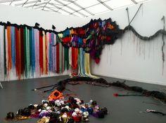 Frieze NY 2012: Spectacular work by Nicolas Hlobo!
