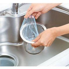 厨房 水槽池 下水道 排水口过滤网 袋 网罩 垃圾袋水切りゴミ袋的图片