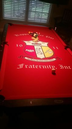 I want a custom Pool Table for the cave! Kappa Alpha Psi Fraternity, Delta Sigma Theta, Alpha Kappa Alpha, Black Fraternities, Modern Man Cave, Man Cave Accessories, Red Party, Pool Table, My Guy