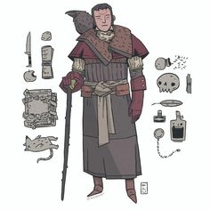 a fancy one with a bird - - - #dnd #illustration #fantasy #characterdesign #roleplay #tabletop #drawingoftheday #costumedesign #art #digitalart #conceptart #comics