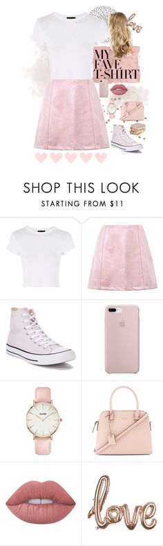 """""""My Favourite T-Shirt"""" by style-by-k ❤ liked on Polyvore featuring Rothko, Topshop, Converse, CLUSE, Kate Spade and Lime Crime"""