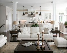 Beautiful!! Love the white furniture with dark floors