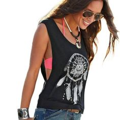 Woman's Cropped Top Short Vest Tank Tops