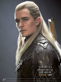 There's something about his makeup that makes him look a lot older...I know it's been a decade, but Orlando Bloom hadn't changed all that much.