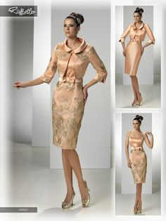 VIRGO (Vestido de Fiesta). Diseñador: Raffaello. ... Elegant Party Dresses, Dresses To Wear To A Wedding, Big Girl Fashion, Womens Fashion, Women Church Suits, Vintage Gowns, Western Outfits, Dress And Heels, New Dress