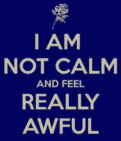 Lol. I shouldn't laugh but this is kinda what I think of every time I see a keep calm thing
