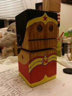 "Block Dudes for Lock. The ""n"" is for  my niece's name and yes, this is wonder woman inspired."