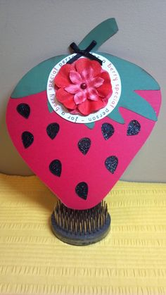 Strawberry Shaped Birthday Card - The Cutting Cafe Design Team Project