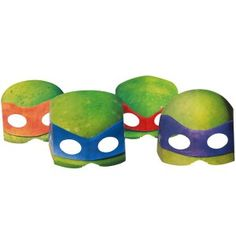 Teenage Mutant Ninja Turtles party masks 8 per pack!! Get all the little Ninja's into the spirit of the party!!
