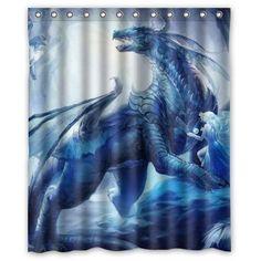 "Special Design New Style Dragon Pattern Waterproof Bathroom Fabric Shower Curtain,Bathroom decor 60"" x 72"" inches Dragon Shower Curtain http://www.amazon.com/dp/B00UJ50DS0/ref=cm_sw_r_pi_dp_-o3Tvb16ZRY22"