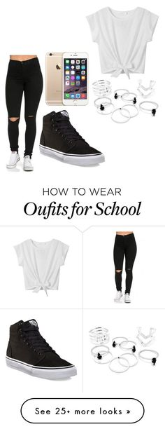 """School"" by broken-dreamer1 on Polyvore featuring Vans"