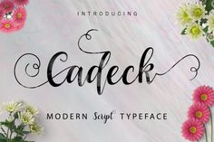 Introducing Cadeck Script Cadeck Script a new fresh & modern script with a handmade calligraphy style, decorative characters and a dancing baseline! So beautiful on invitation like greeting cards, branding materials, business cards, quotes, posters, and more!!