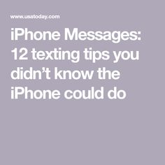 iPhone Messages: 12 texting tips you didn't know the iPhone could do Cell Phone Hacks, Iphone Life Hacks, Smartphone Hacks, Computer Camera, Computer Help, Computer Tips, Iphone Camera, Technology Hacks, Computer Technology