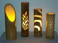 Bamboo craftsmanship is a technique used by those who seek to transform this rich material into exclusive, functional and resistant pieces. Bamboo Light, Bamboo Lamp, Bamboo House Design, Image Deco, Lampe Decoration, Bamboo Decoration, Bamboo Architecture, Bamboo Furniture, Furniture Ideas