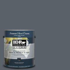BEHR Premium Plus Ultra Home Decorators Collection 1-gal. #hdc-AC-25 Blue Metal Satin Enamel Interior Paint