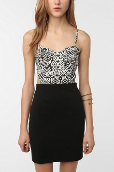 UrbanOutfitters.com > Lucca Couture Knit Cutout Printed Bodycon Dress