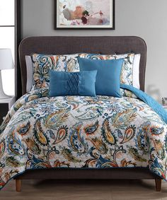 Look what I found on #zulily! Watercolor Paisley Five-Piece Quilt Set #zulilyfinds