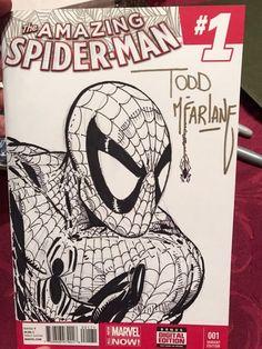 Todd McFarlane -- The Amazing Spider-Man , in J. K.'s Amazing Spider-Man Comic Art Gallery Room