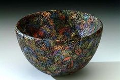 Leaf saturation - woodturning work by Andi Wolfe