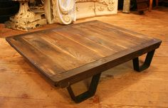 Vintage Industrial Coffee Table Pallet -- Industrial Furniture. $275.00, via Etsy.