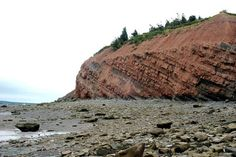 Best Beach for Fossils ~ Joggins Fossil Cliffs, Nova Scotia East Coast Road Trip, Atlantic Canada, Prince Edward Island, New Brunswick, Summer Ideas, Newfoundland, Canada Travel, Nova Scotia, Beaches