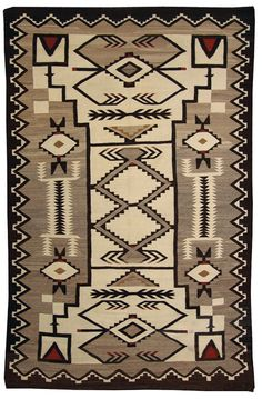 Exceptional and very large storm pattern floor rug with traditional elements. Native American Blanket, Native American Rugs, American Indian Art, Navajo Weaving, Navajo Rugs, Hand Weaving, Bead Loom Patterns, Floor Patterns, Rug Patterns
