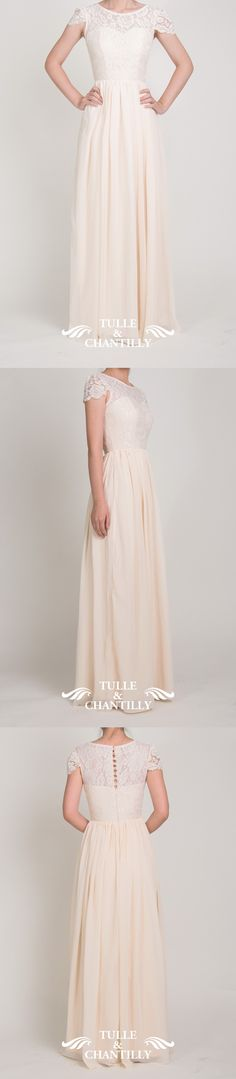 banana cream lace and chiffon bridesmaid dresses for autumn 2015