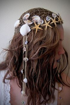 Mermaid Headdress Halloween Headpiece by Frecklesfairychest on Etsy Costume Halloween, Halloween Makeup, Pirate Costumes, Mermaid Costumes, Sea Witch Costume, Halloween Parade, Fairy Costumes, Woman Costumes, Couple Costumes