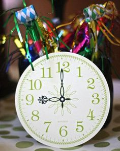Tick, Tock Clock Theme: New Year's Eve Party Ideas